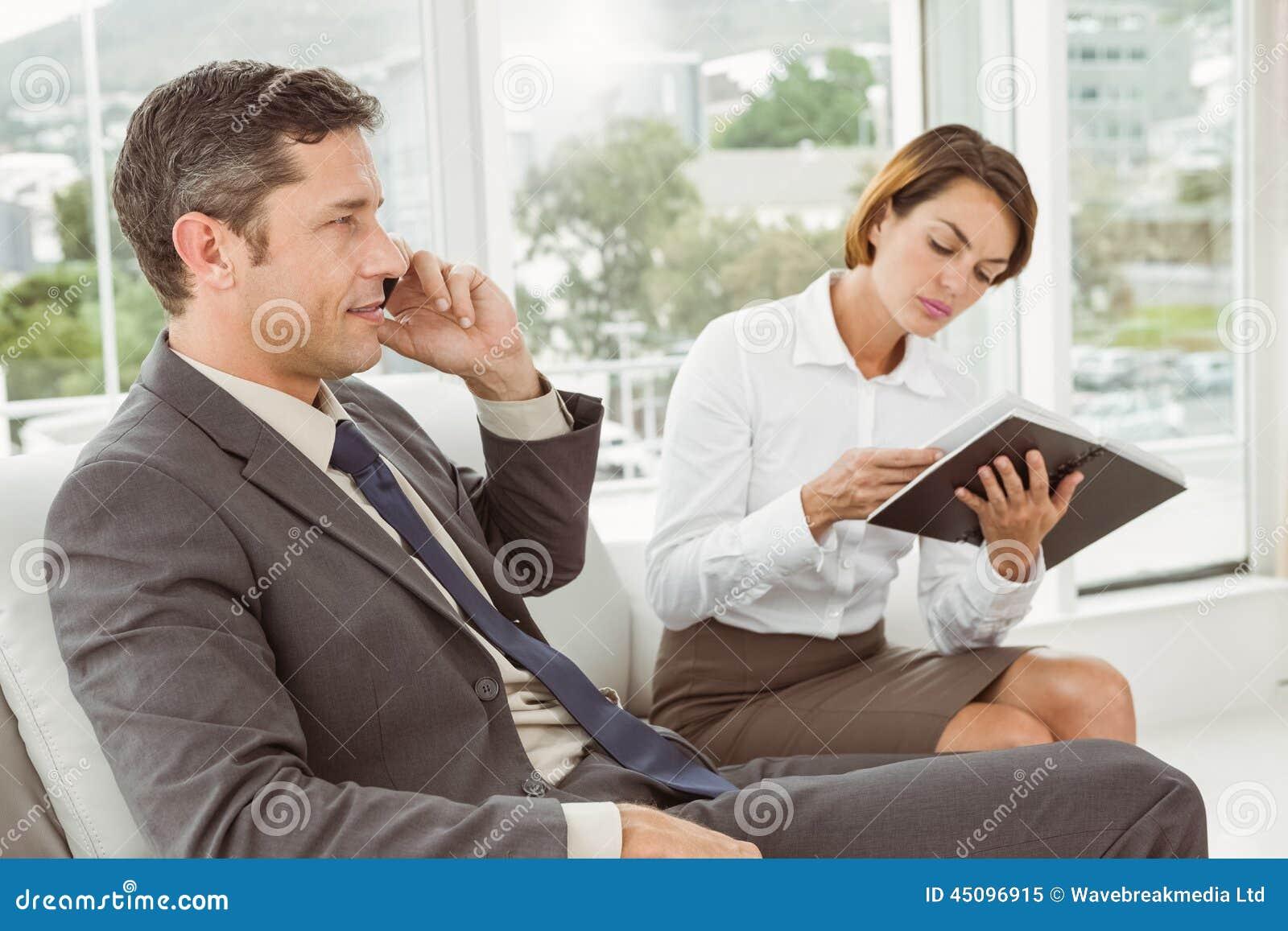 Businessman and his secretary