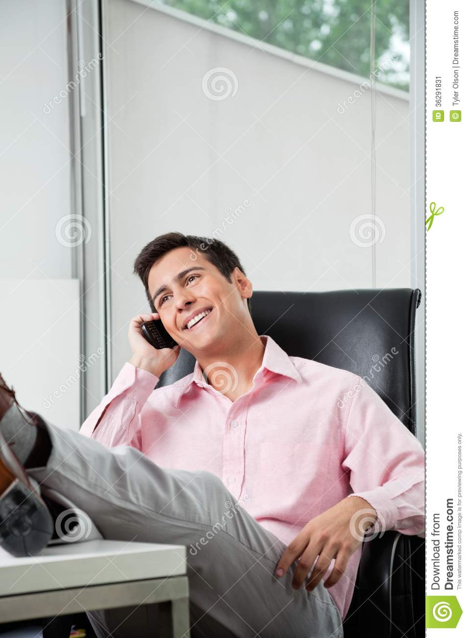 Businessman On A Call Stock Image - Image: 36291831