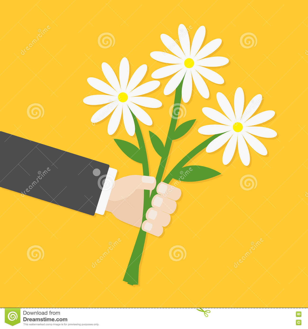 Businessman cartoon character hand holding bunch bouquet of white download comp izmirmasajfo