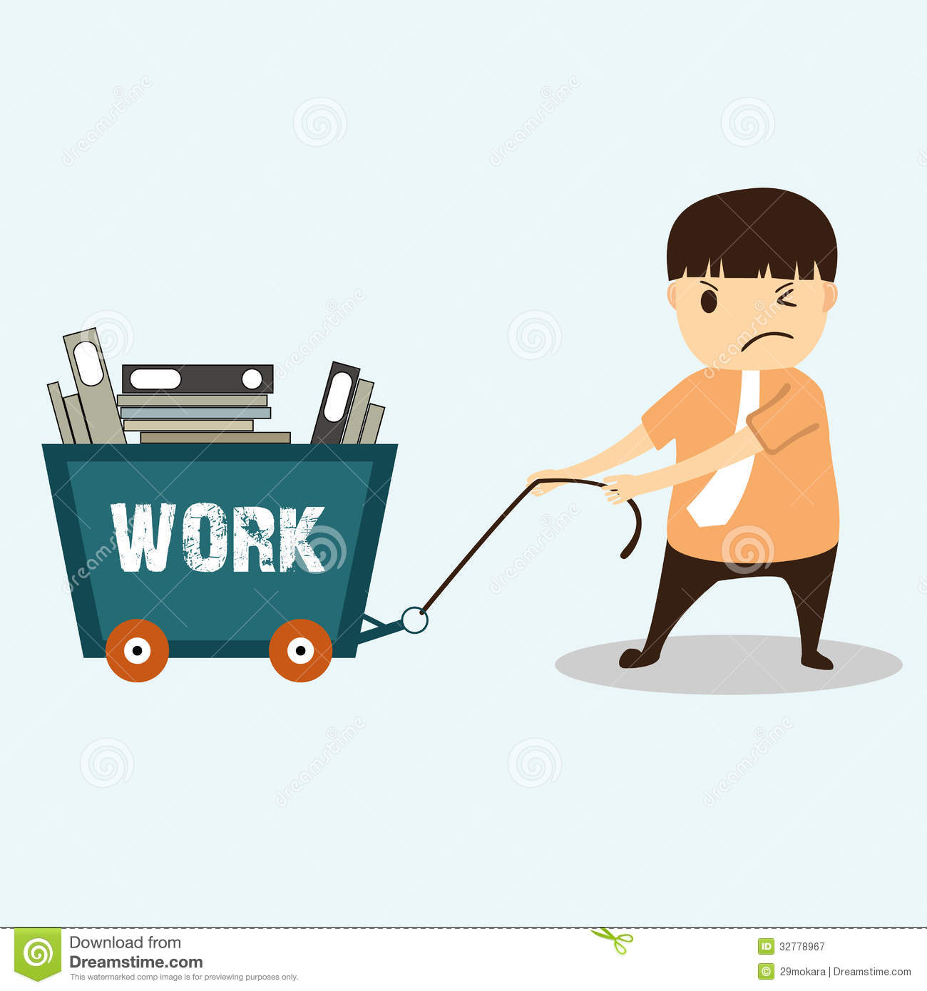 ... similar stock images of ` Businessman cartoon on work hard concept