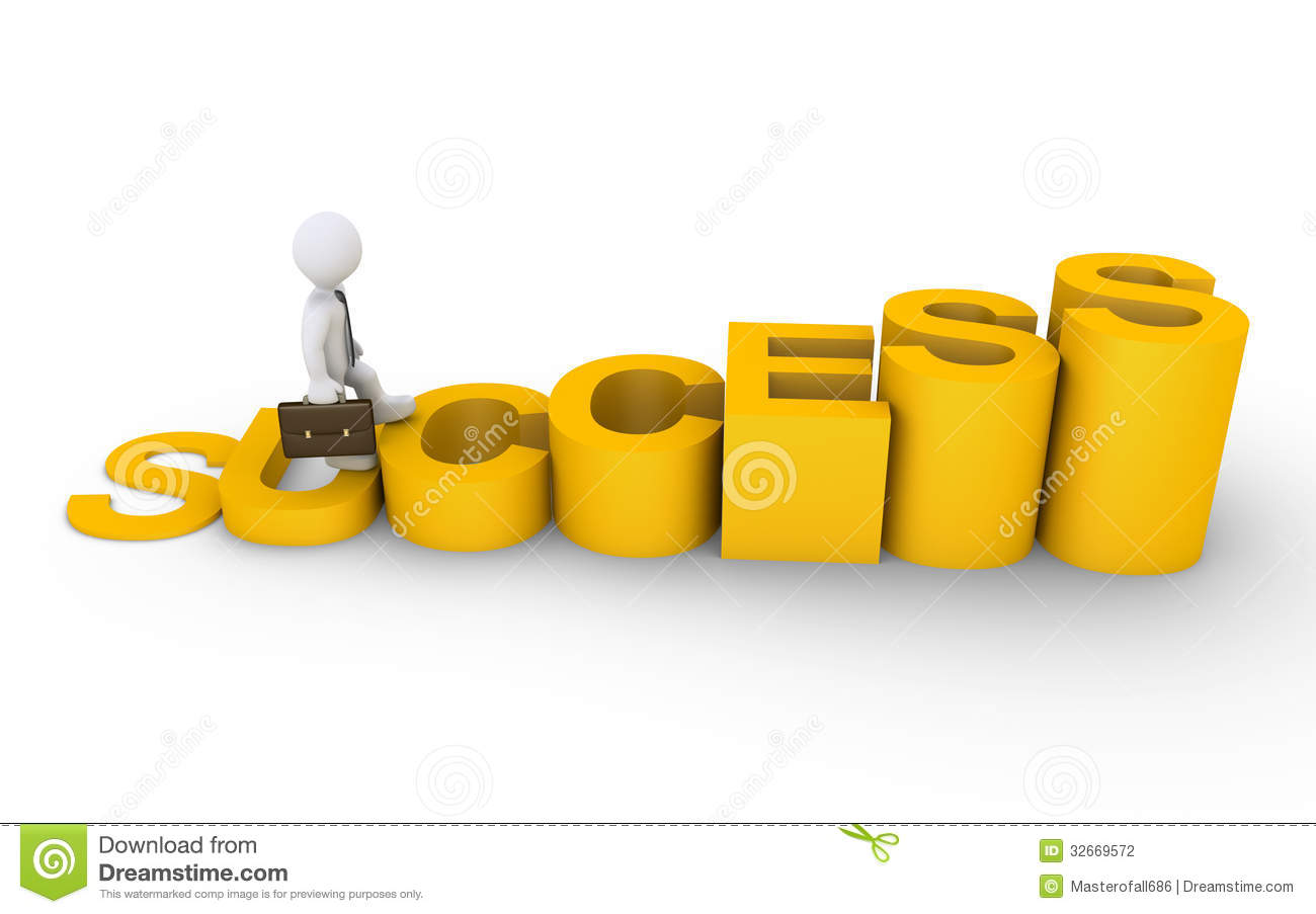 Businessman Is Climbing A Success Diagram Stock Photography - Image ...