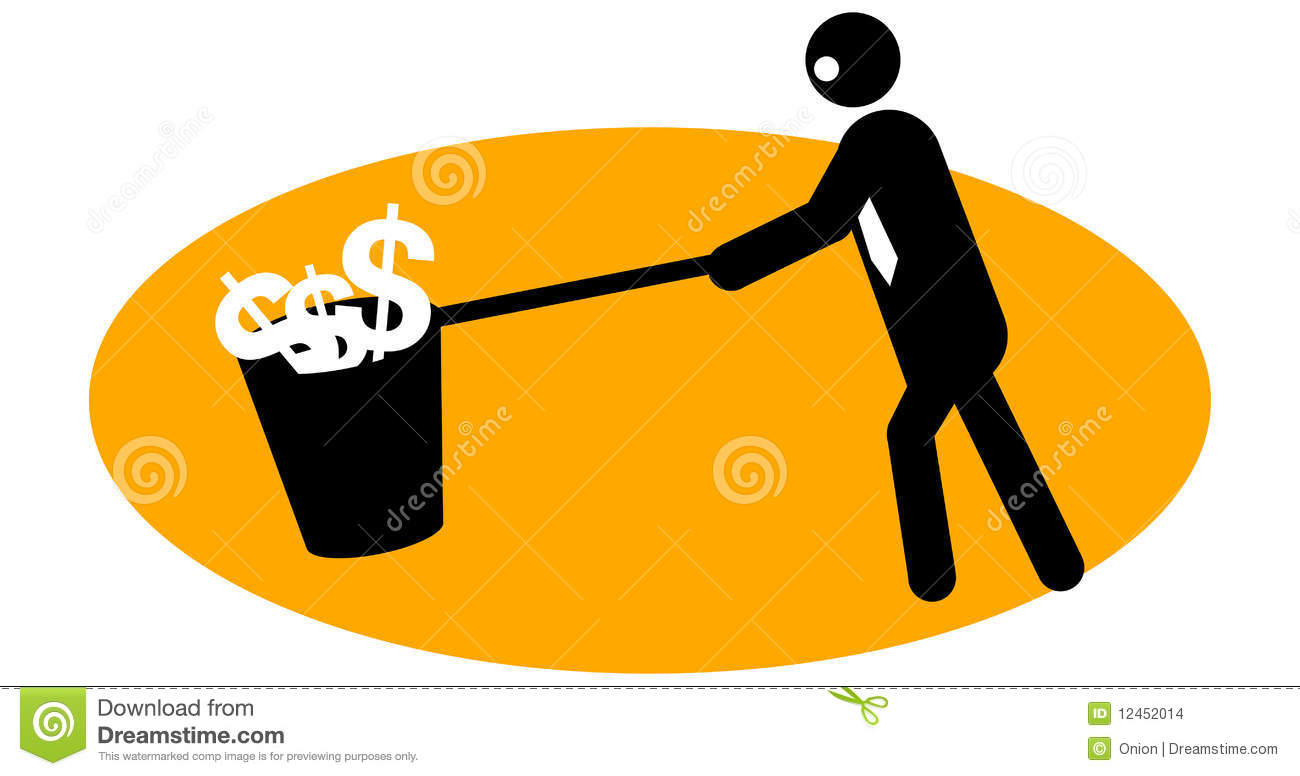 Businessman Collecting Money Stock Images - Image: 12452014