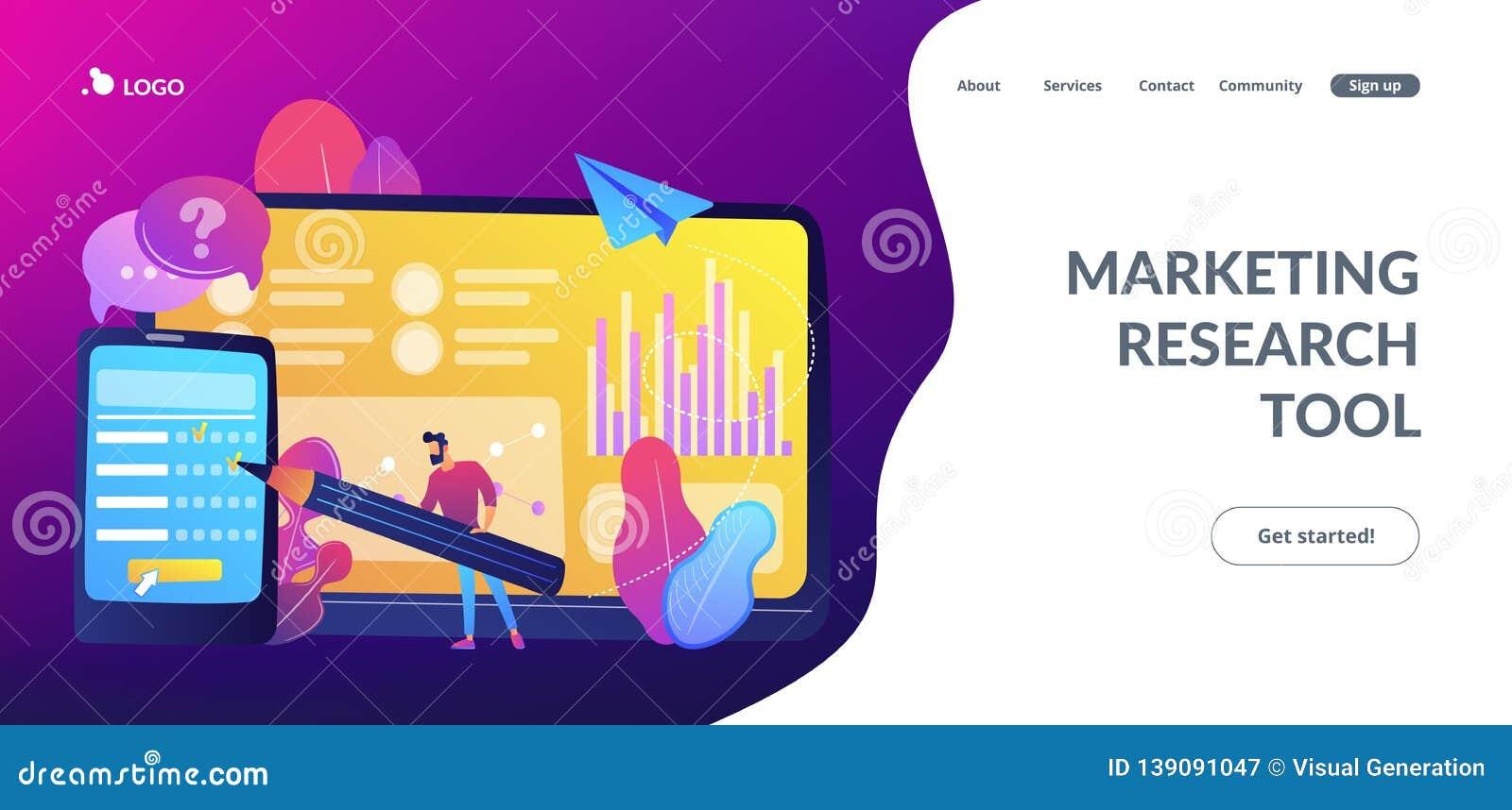 Online Survey Concept Landing Page. Stock Vector ...