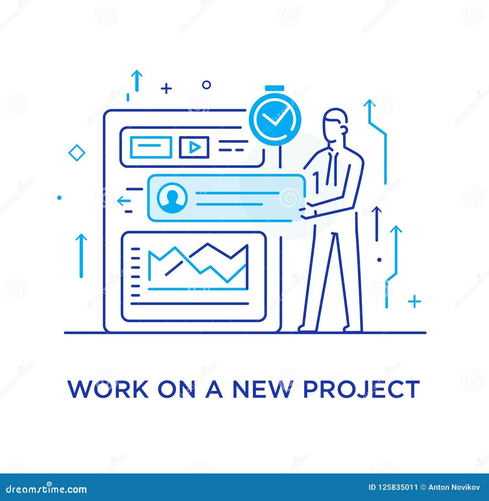 businessman configures the organizer project planning workflow