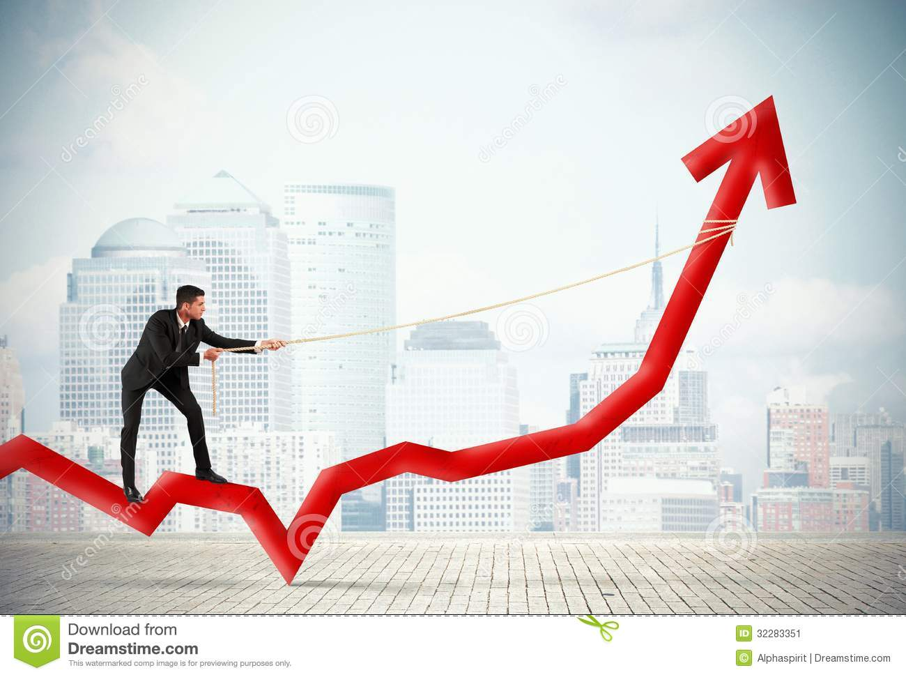 businessman and corporate profit stock image image 32283351