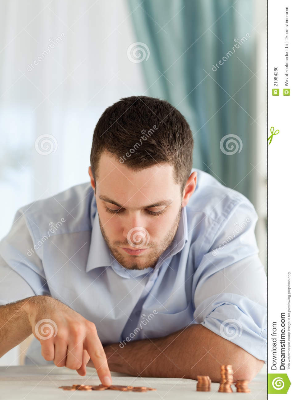 worksheet Counting Change businessman counting change stock photo image 21984280 change