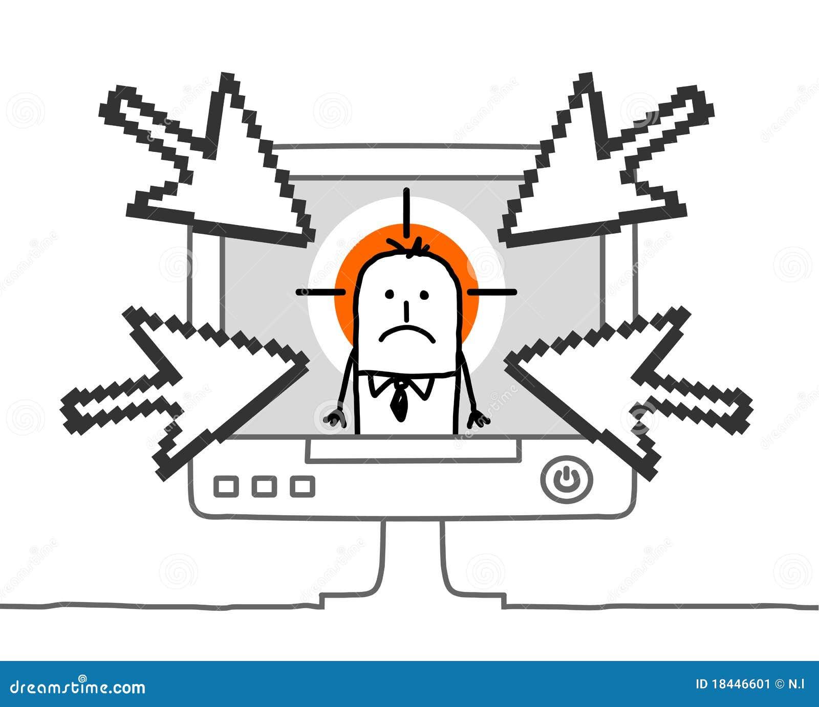 Businessman Amp Cyberbullying Stock Image Image 18446601