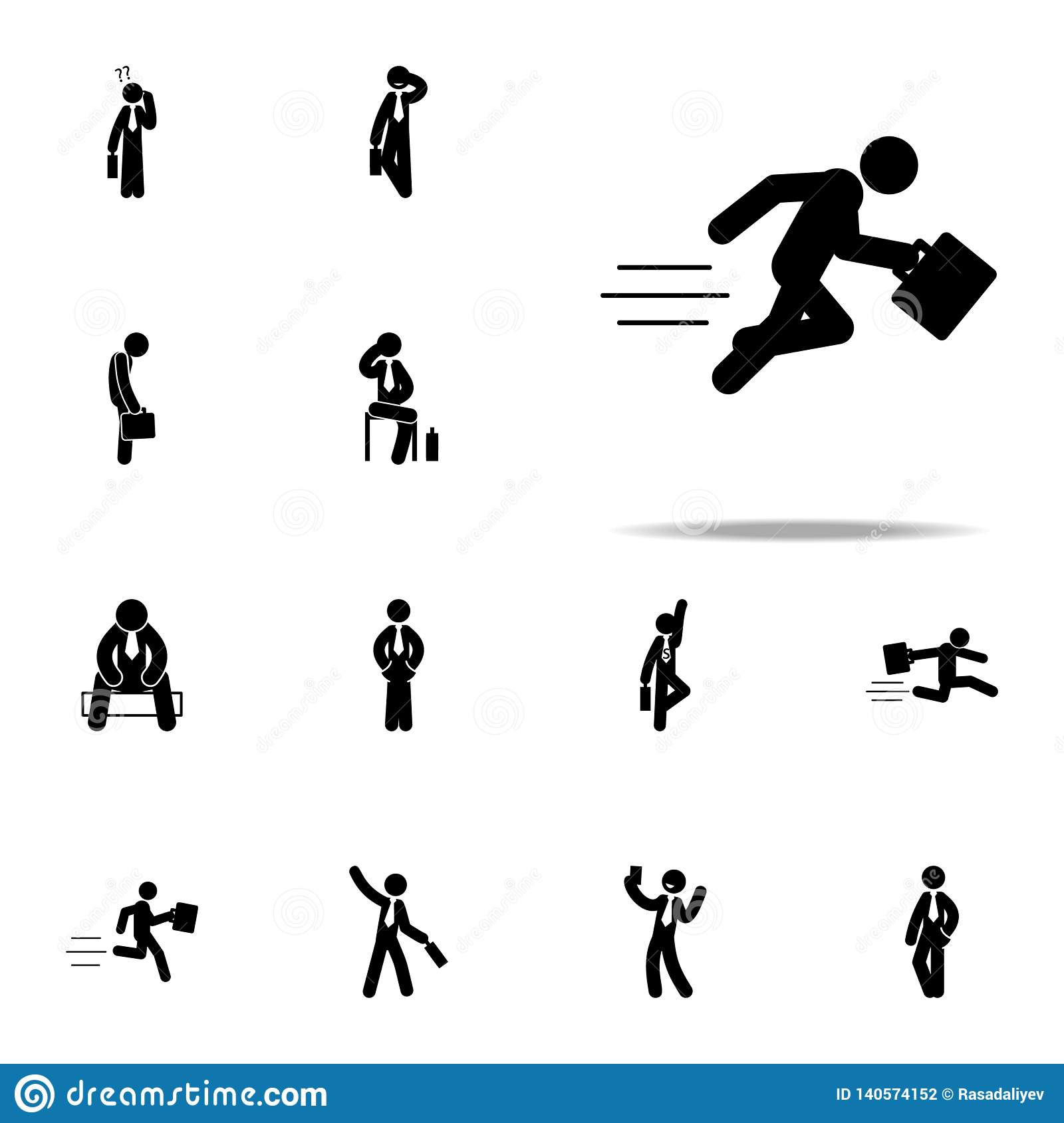 businessman, dashing, fast, running icon. Businessmen icons universal set for web and mobile