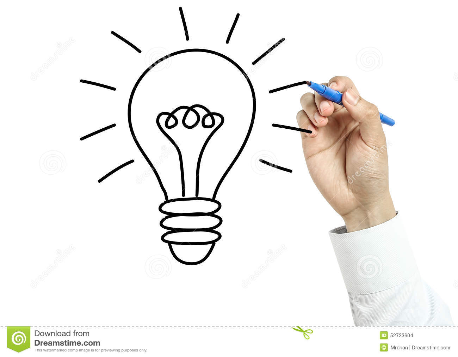 Businessman drawing bulb idea concept