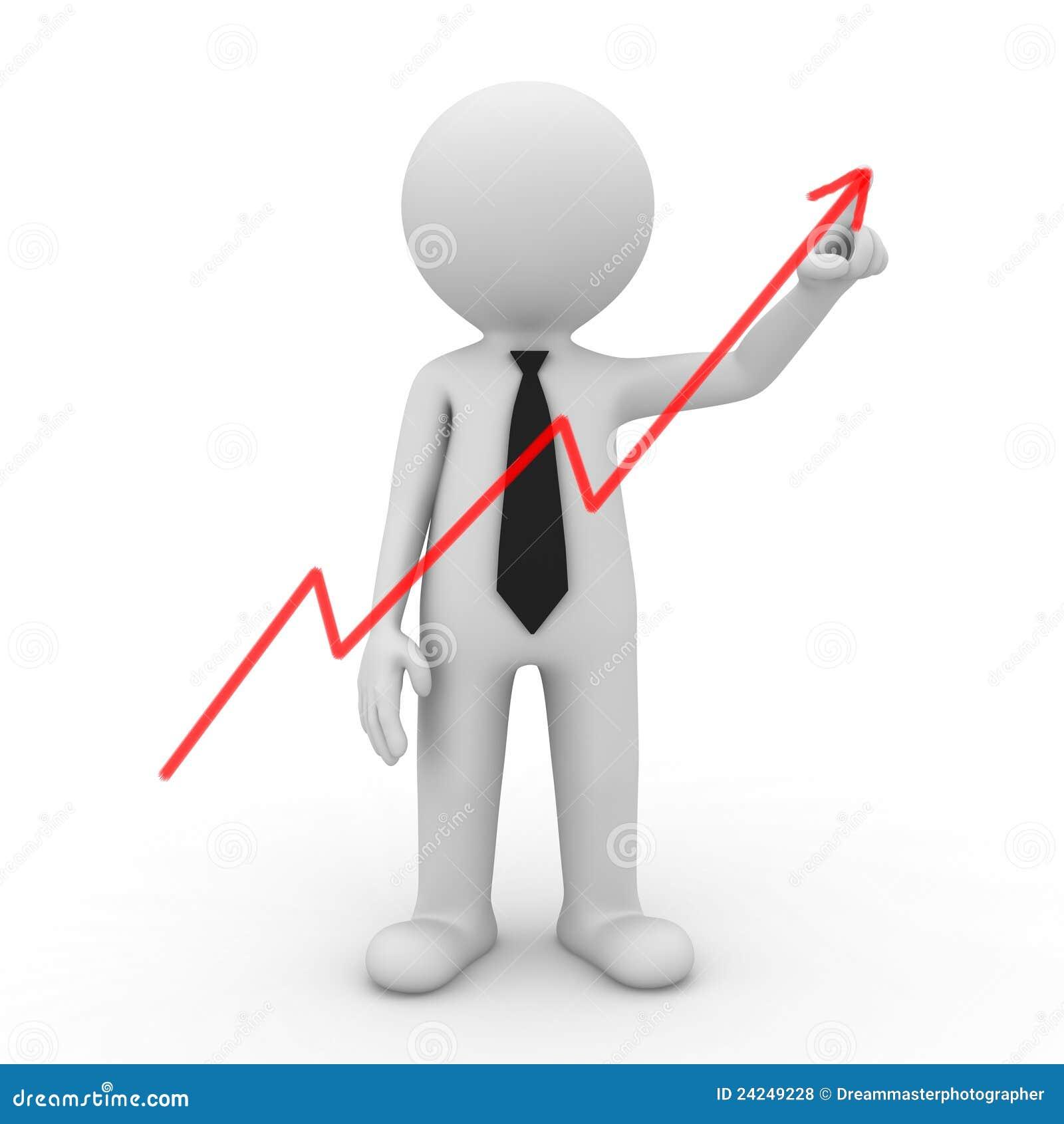 Businessman Drawing Graph Royalty Free Stock Photos