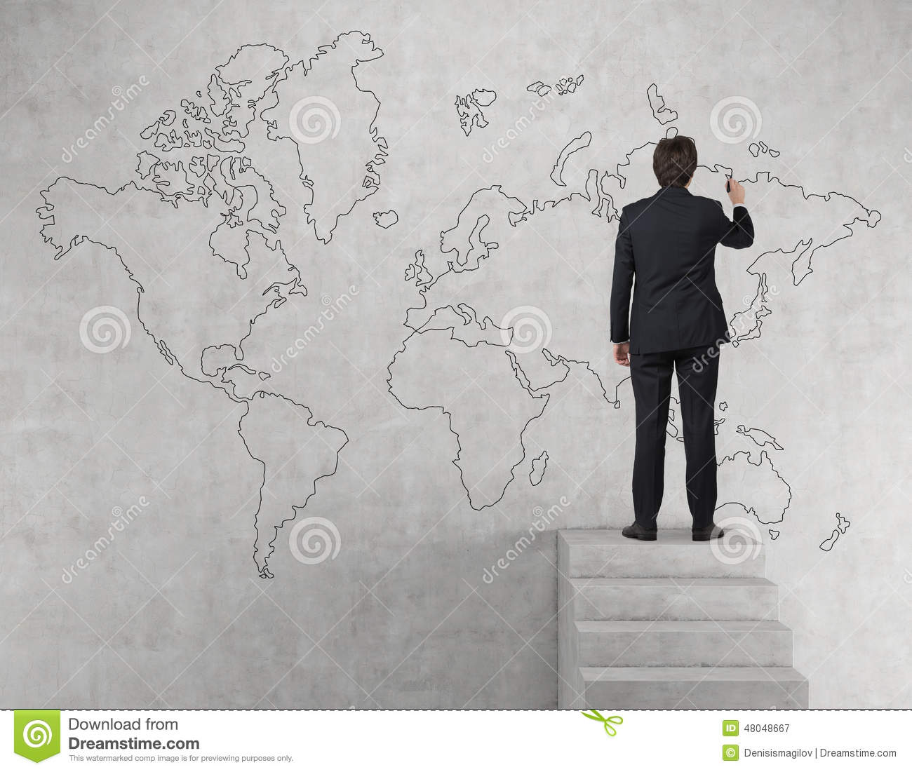 Businessman drawing world map stock image image of creativity download businessman drawing world map stock image image of creativity research 48048667 gumiabroncs Images