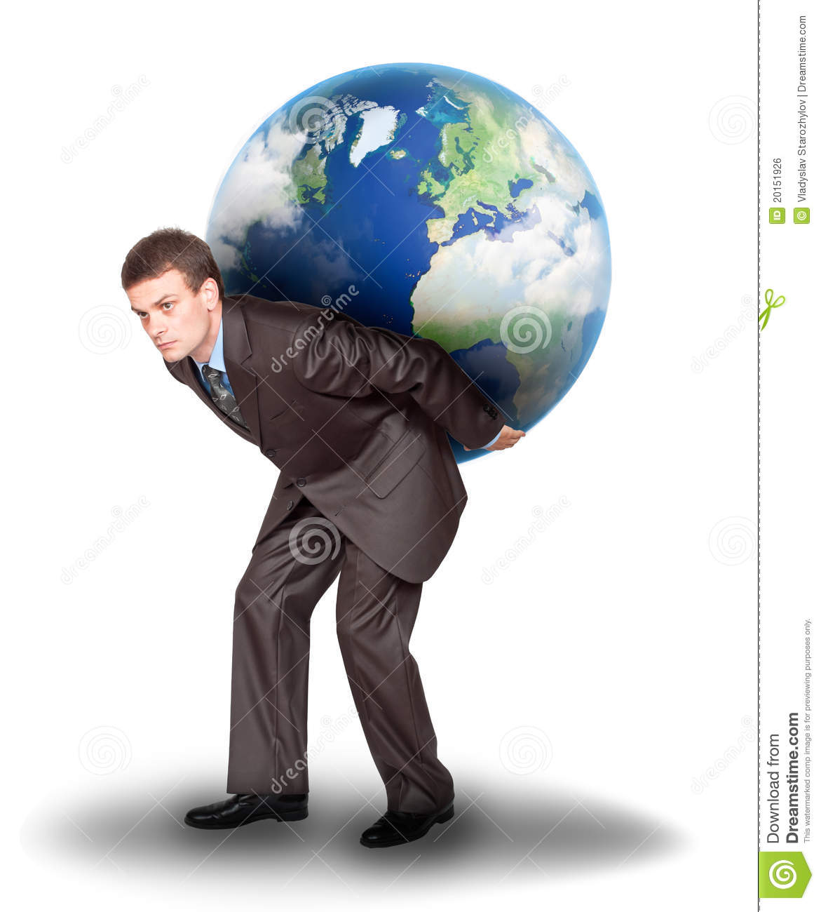 Businessman with the earth on his back