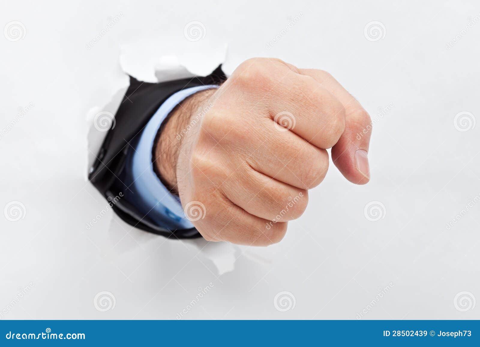 Thumb through fist