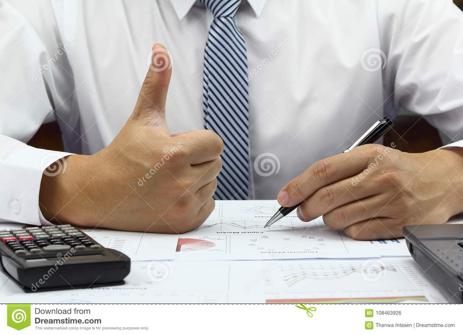 Businessman Good Idea Plan Finance