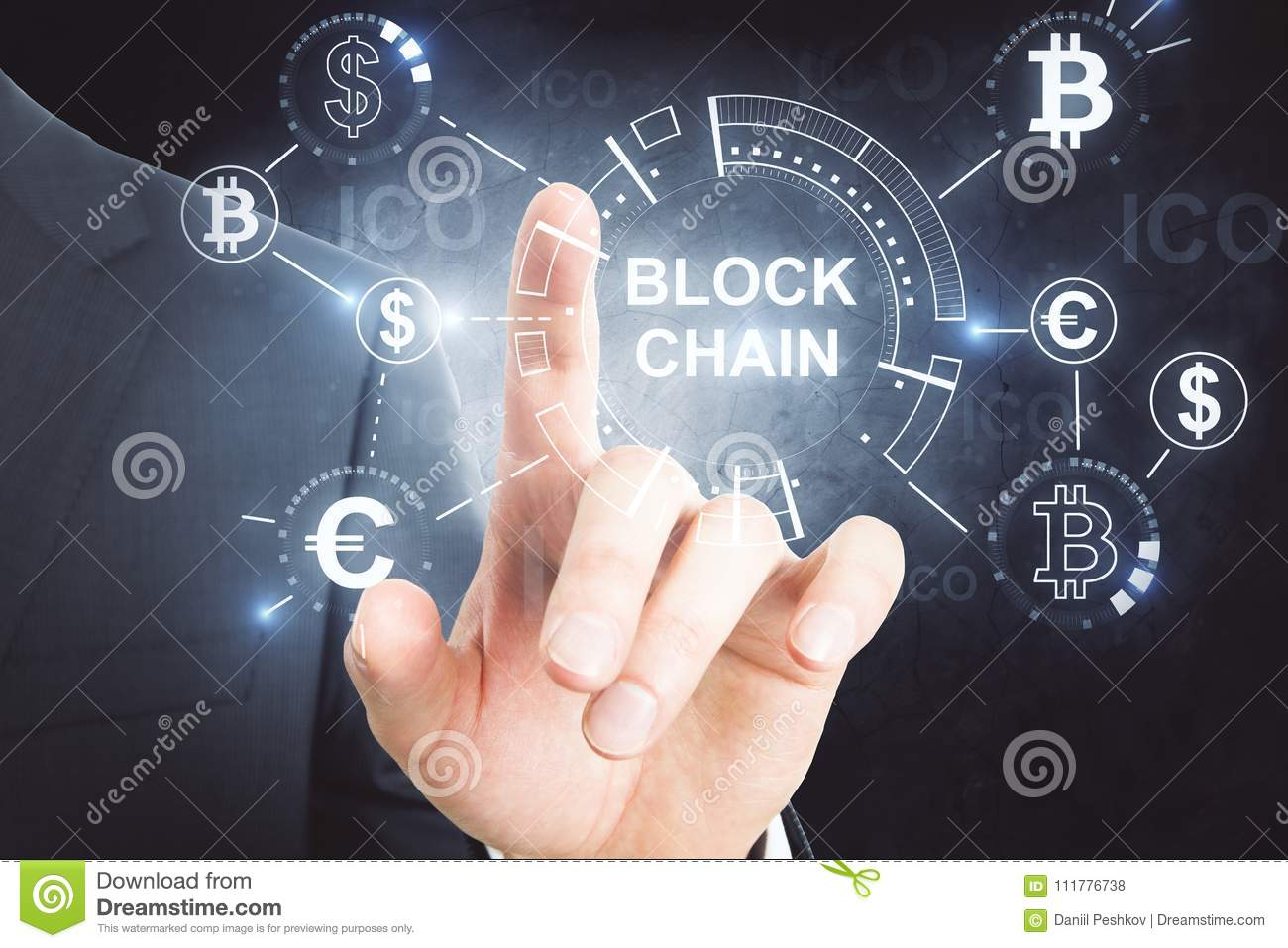 Cryptocurrency and bitcoin concept