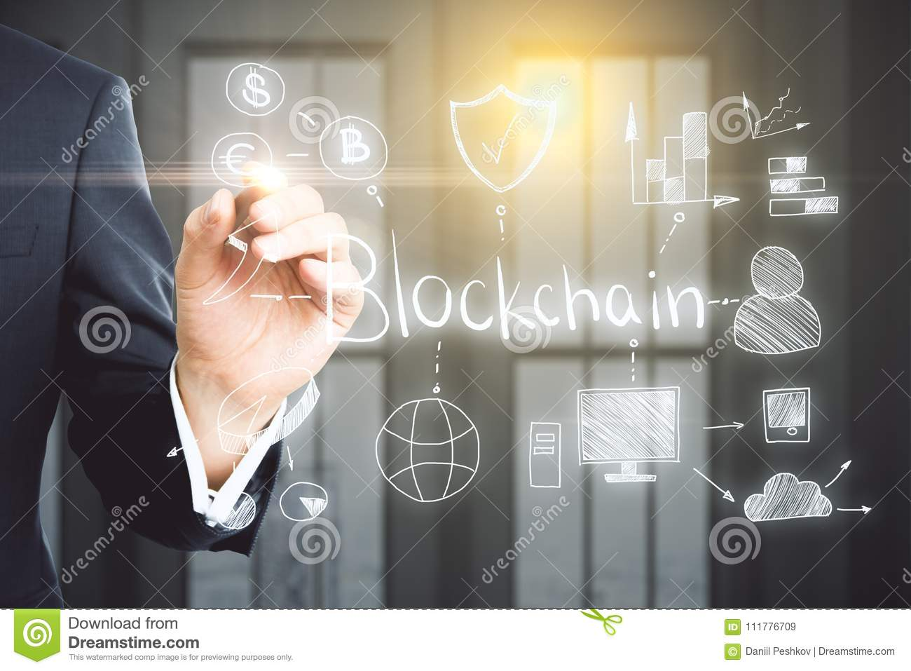 Cryptocurrency and technology concept