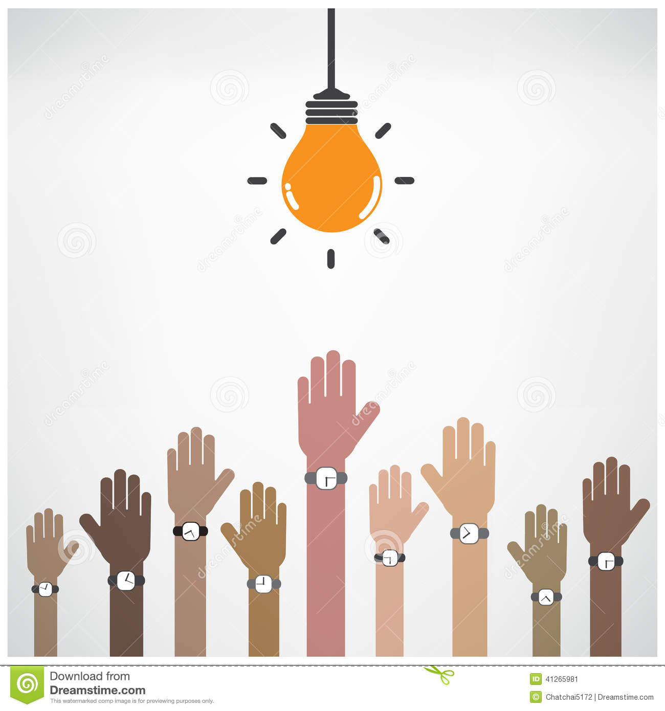 Poster design education - Businessman Hand Symbol With Creative Light Bulb Sign Design Fo Stock Vector
