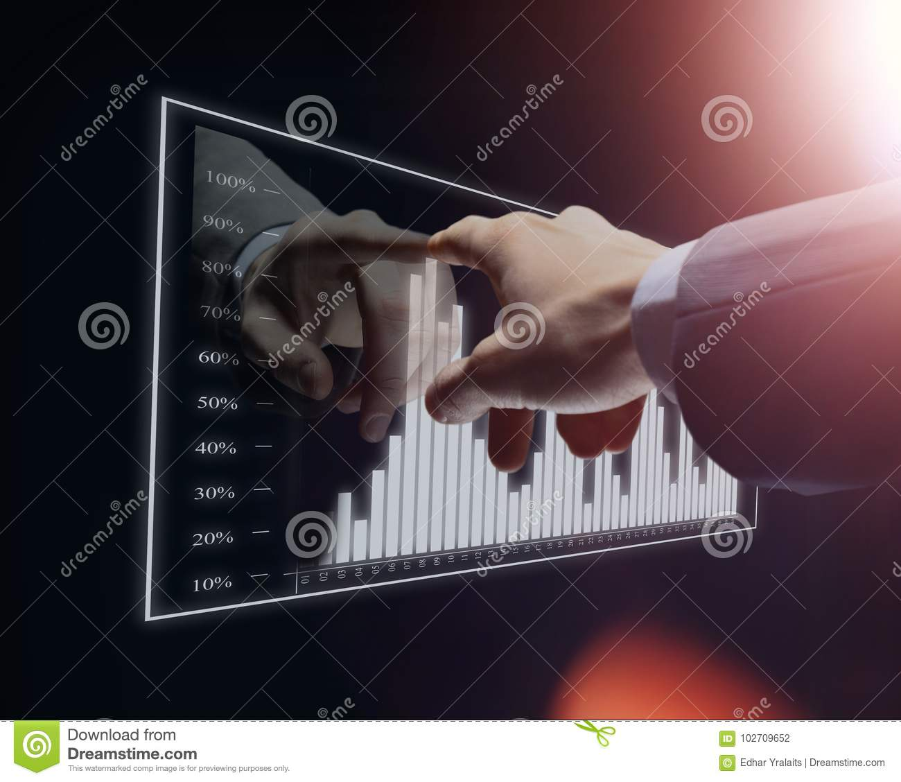 Diagram Of Hand Touch Worksheet And Wiring Switch Circuit Businessman Virtual Stock Photo Image Rh Dreamstime Com Hands