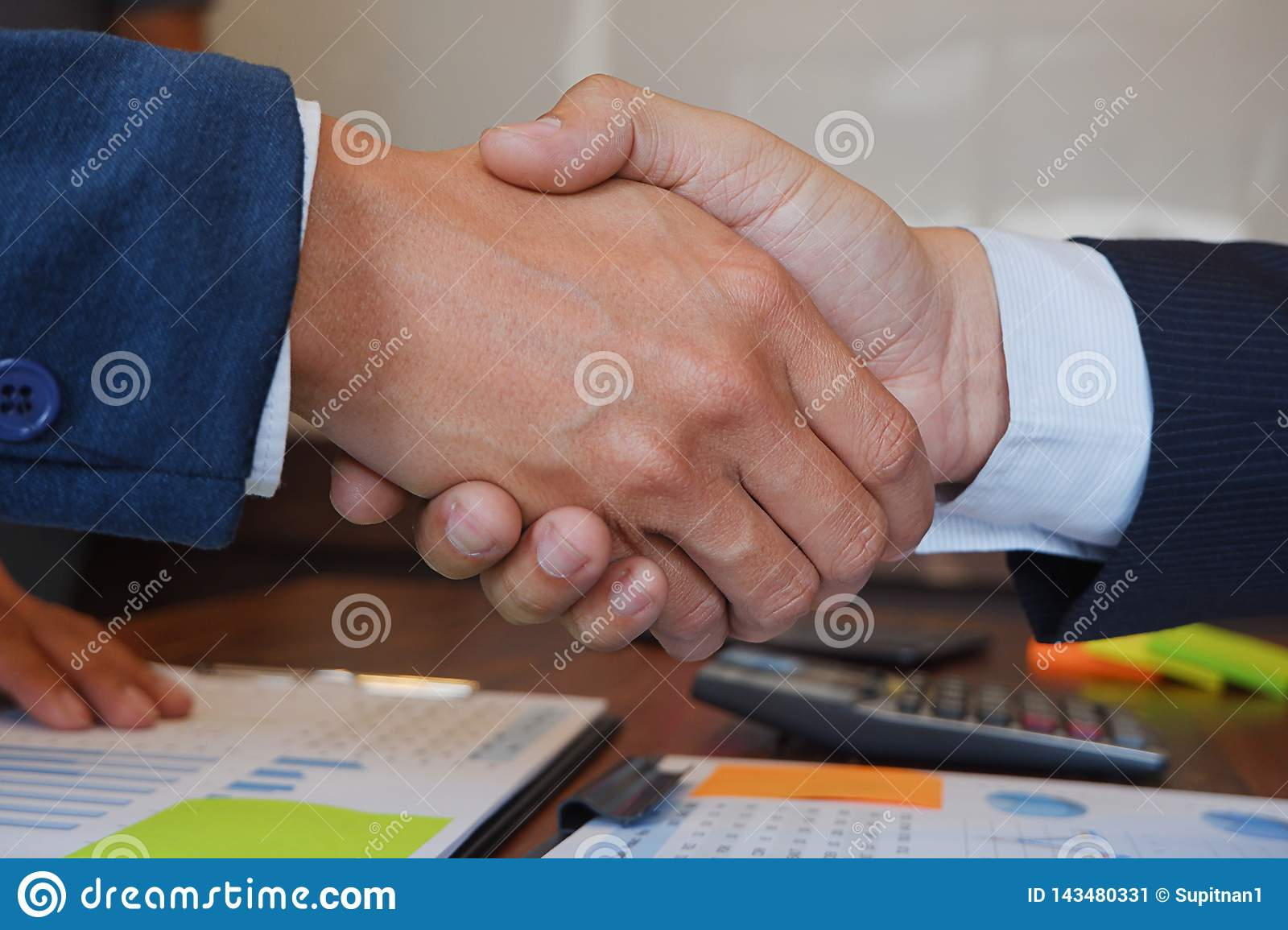 Businessman handshake  consulting  agree deal