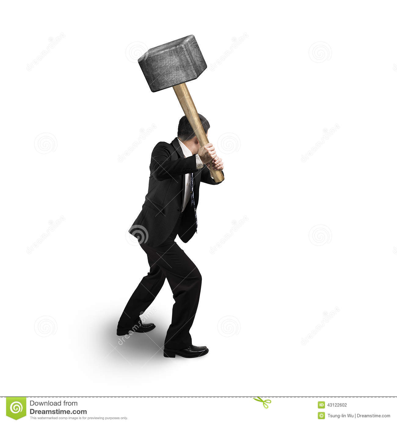 1911 dissassemby/assembly tools Businessman-holding-big-hammer-white-background-43122602