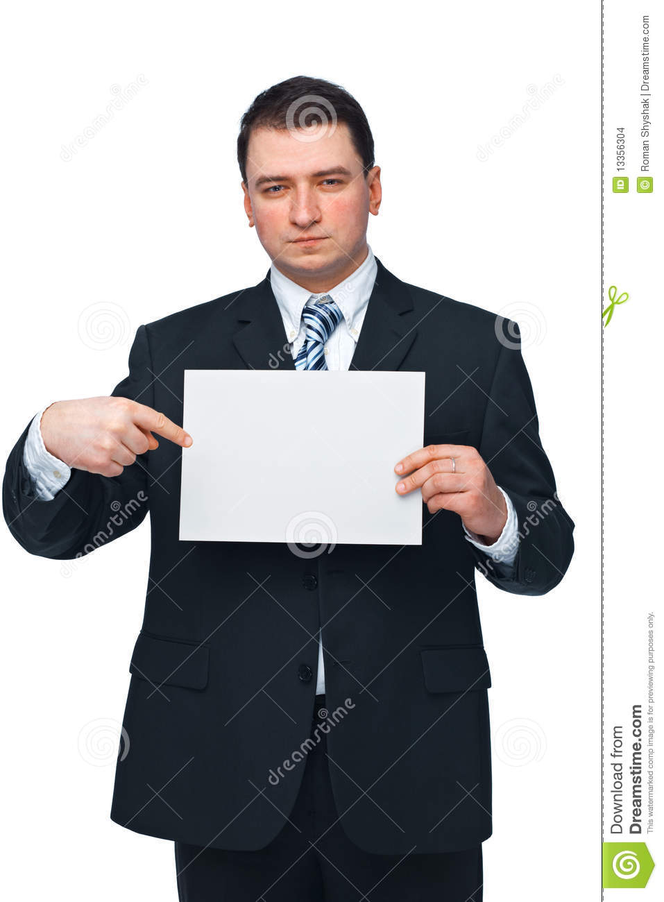 Businessman Holding A Billboard Stock Photo - Image of ...