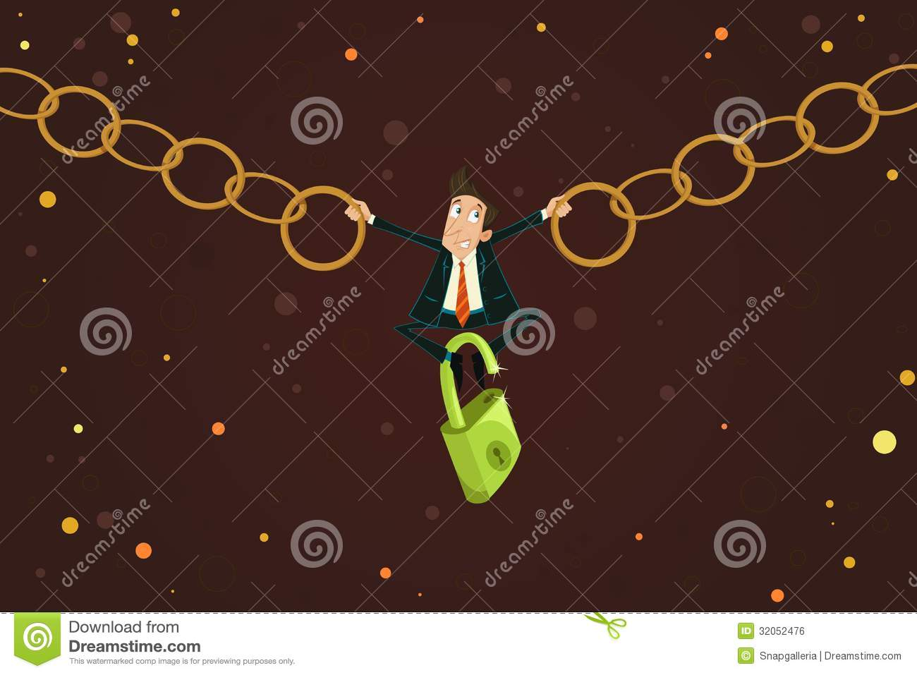 Businessman Holding Chain Royalty Free Stock Image Image
