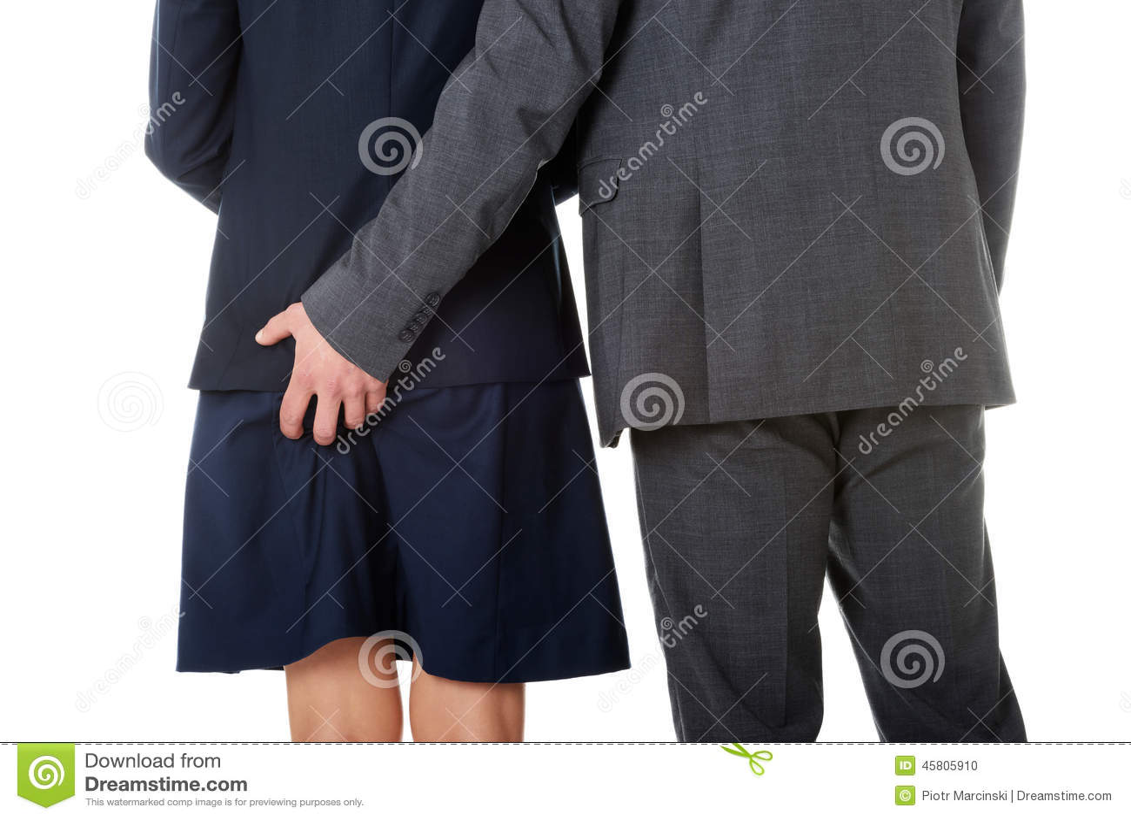 Technology Management Image: Businessman Holding Hand On Partners Stock Photo