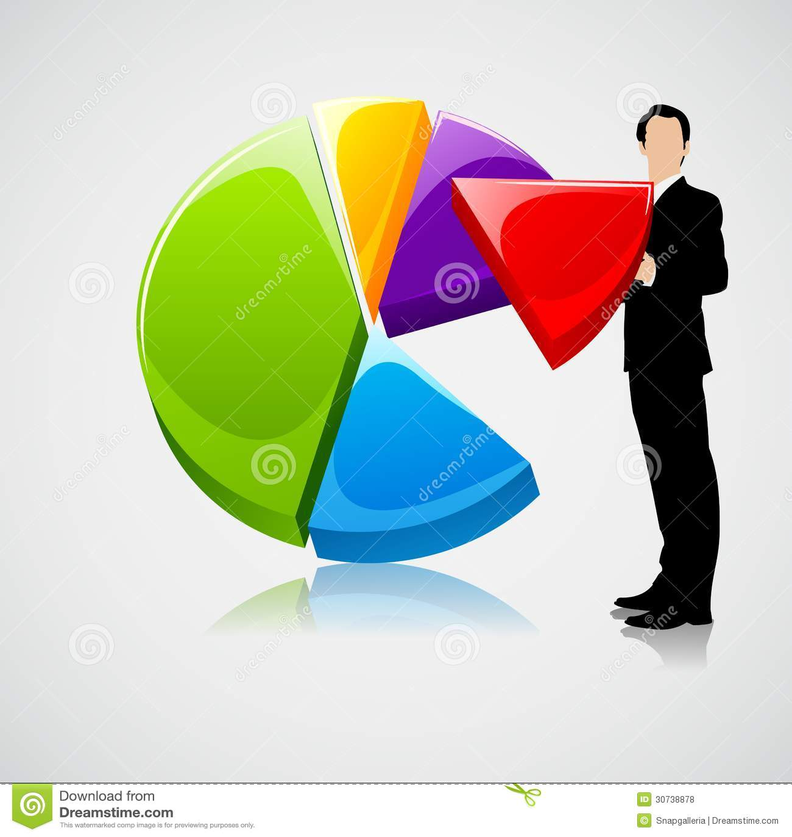 Businessman Holding Profit Sharing Stock Vector Image