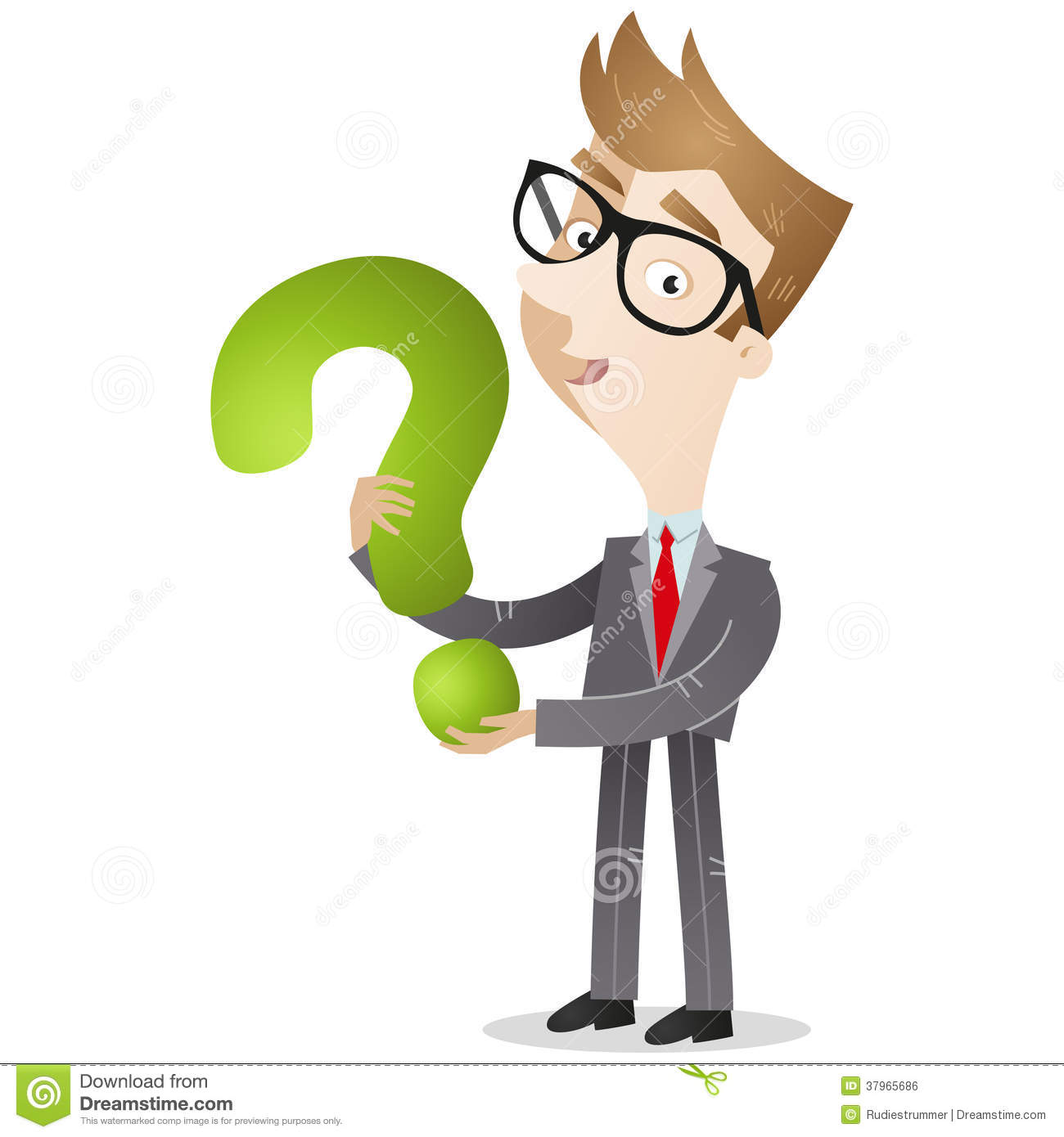 businessman holding question mark royalty free stock image