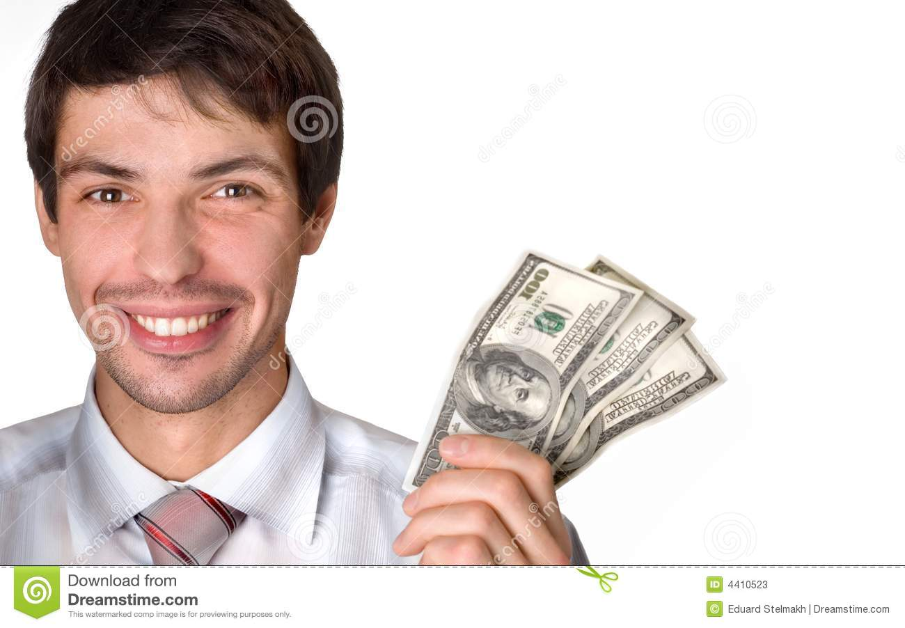 Technology Management Image: Businessman Holds Money In A Hand Stock Image