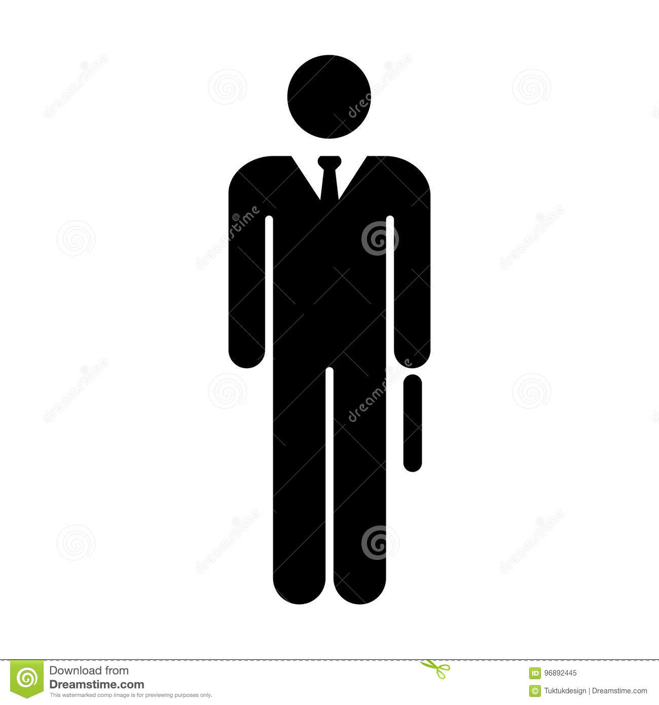 Man Icon Vector Male Symbol Of Business Person With Tie Sign In