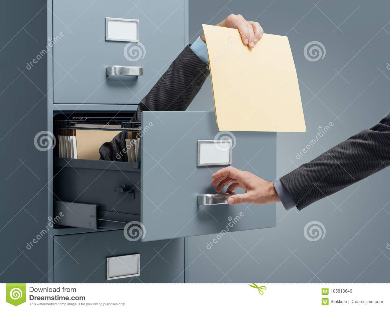 Fast file search stock photo  Image of drawers, manager