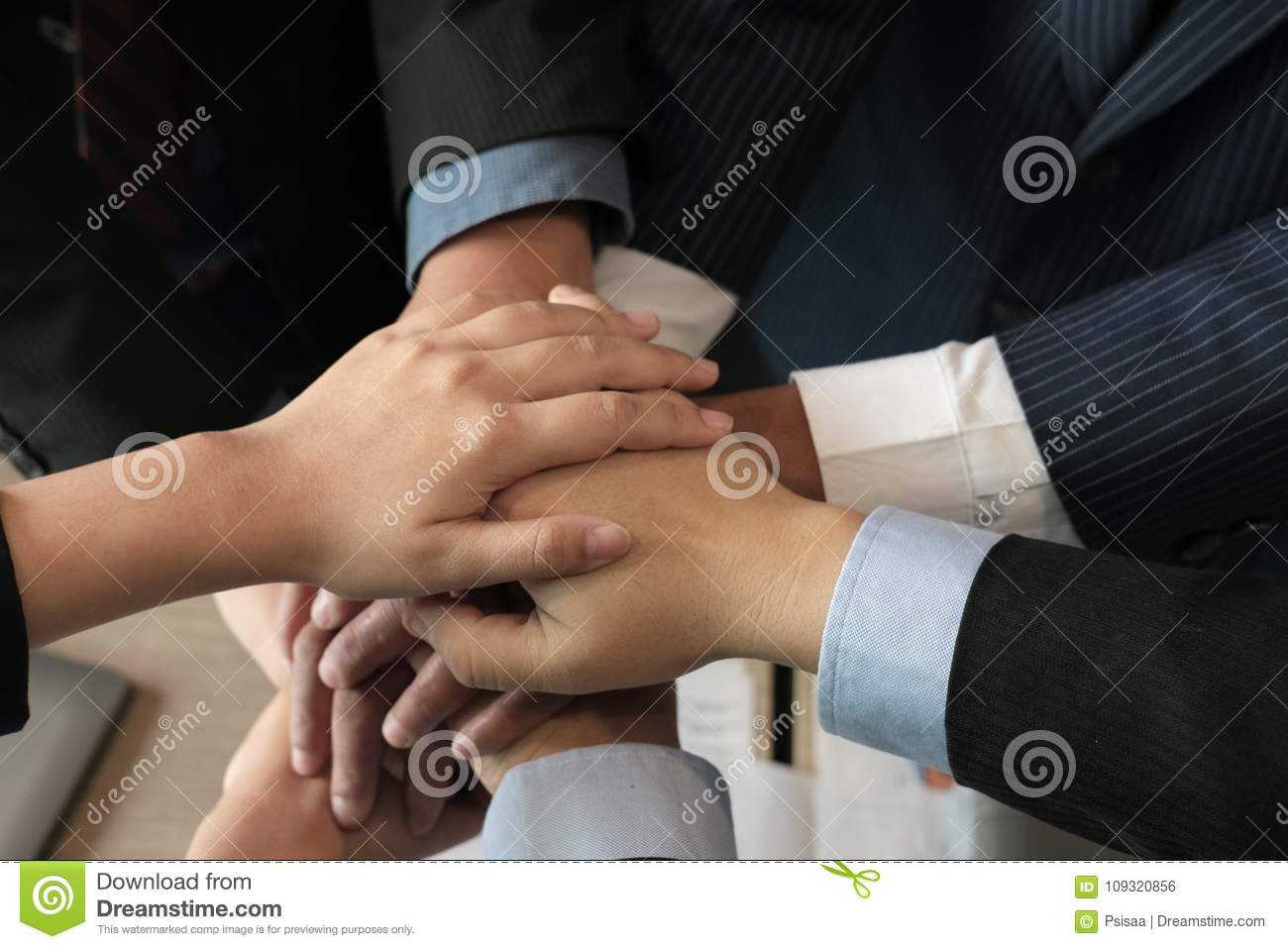 Stock Illustration of Six colorful hands touching together ... |Touching Hands Together