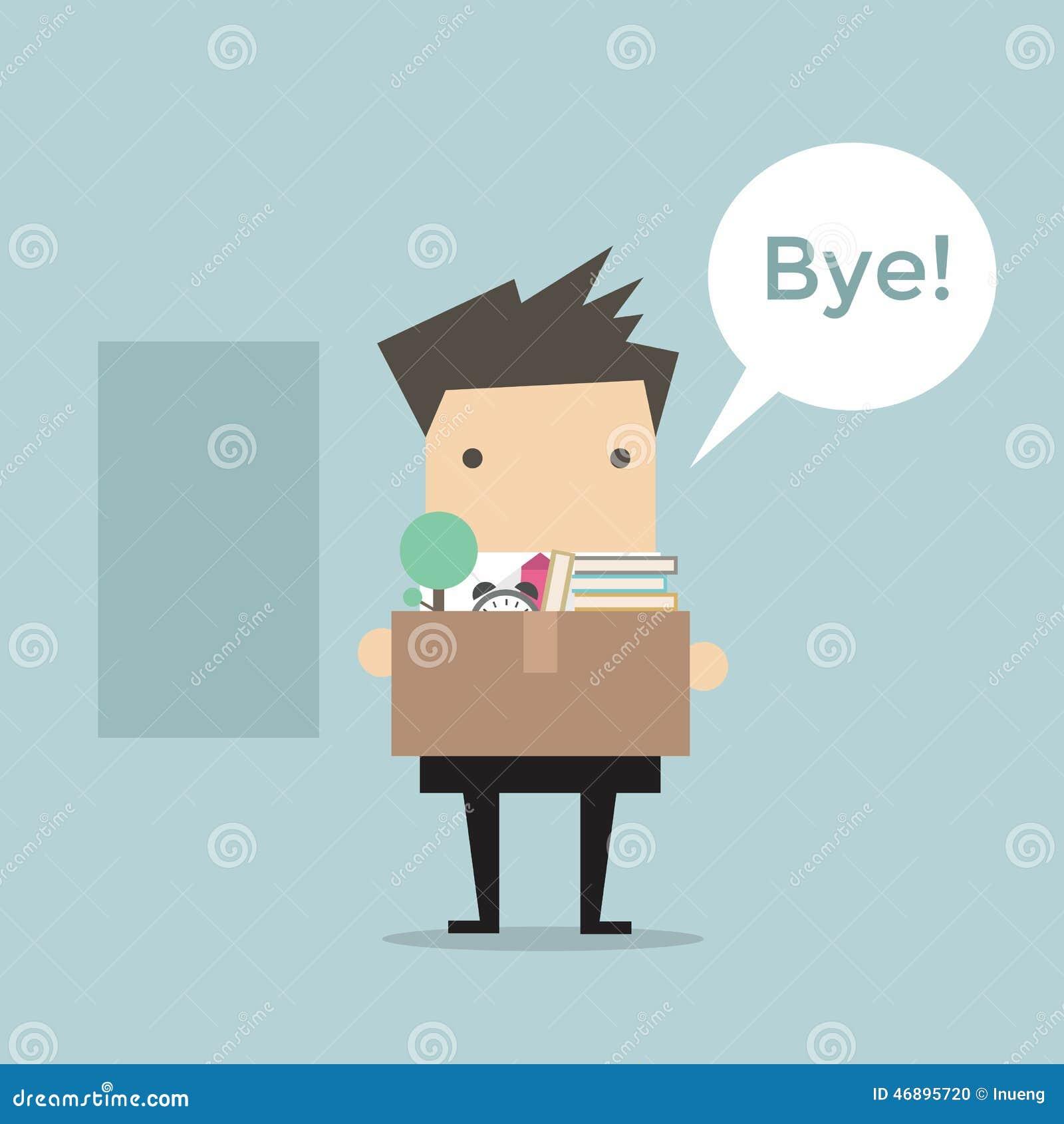 businessman leaving job vector stock vector image  businessman leaving job vector