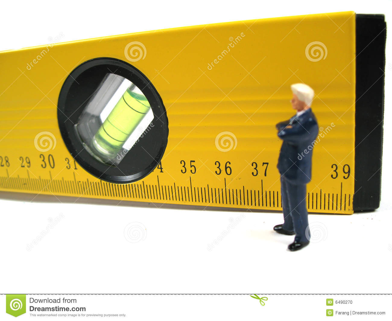 Businessman and level
