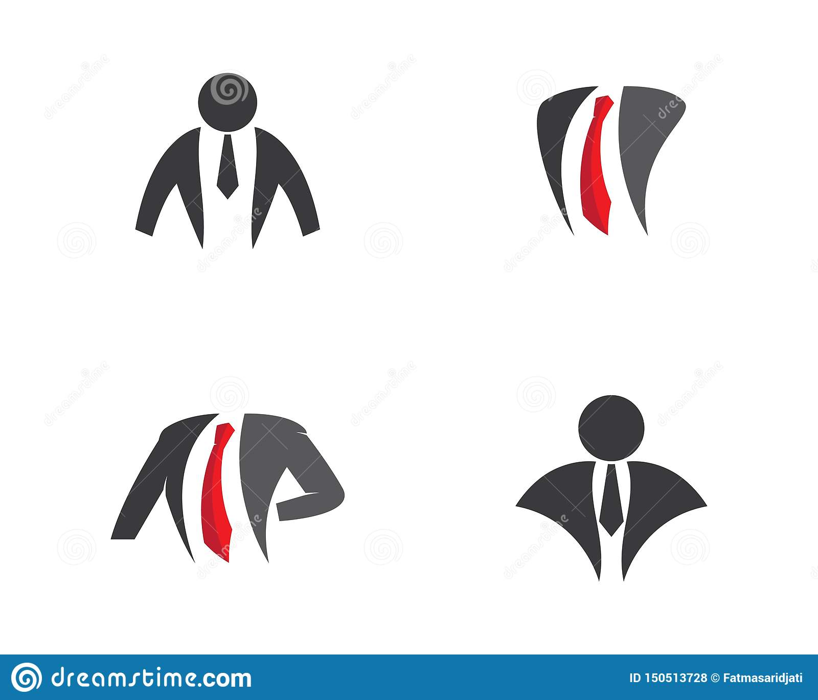 Businessman logo illustration