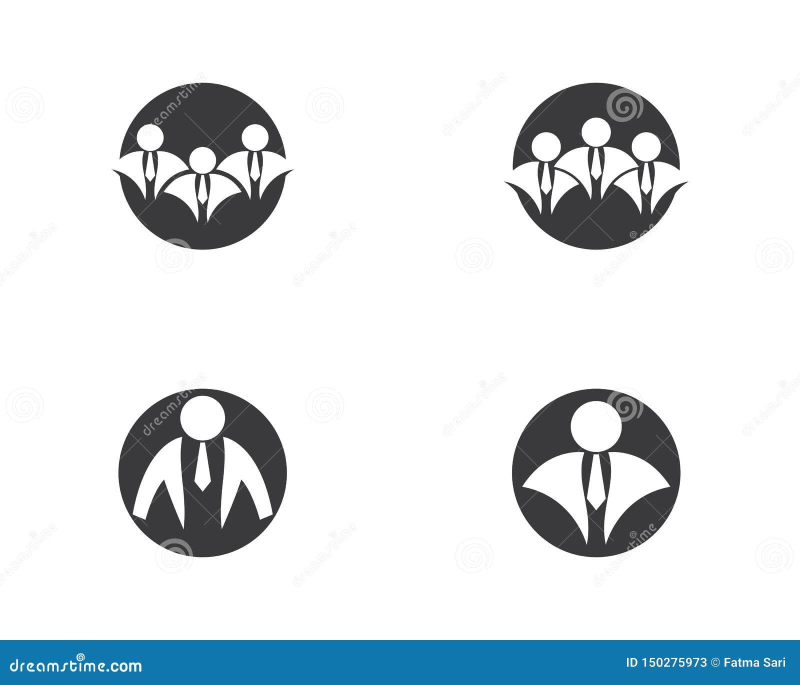 Businessman logo illustration
