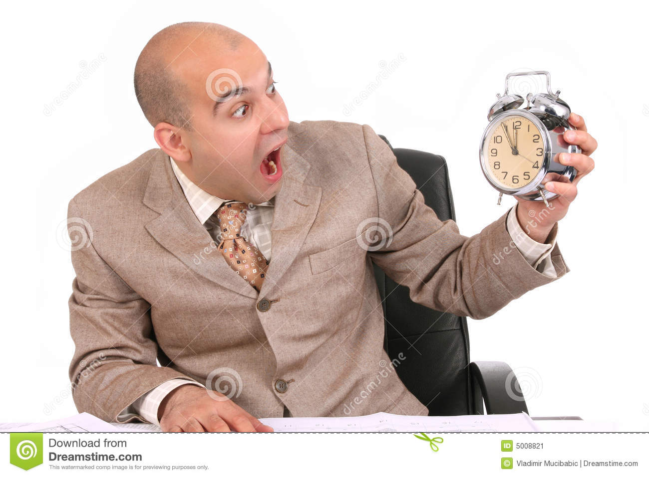 businessman looking at clock alarm stock image image of fashion