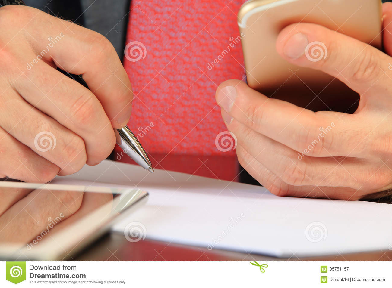 Businessman Looking For Partners Online Stock Image