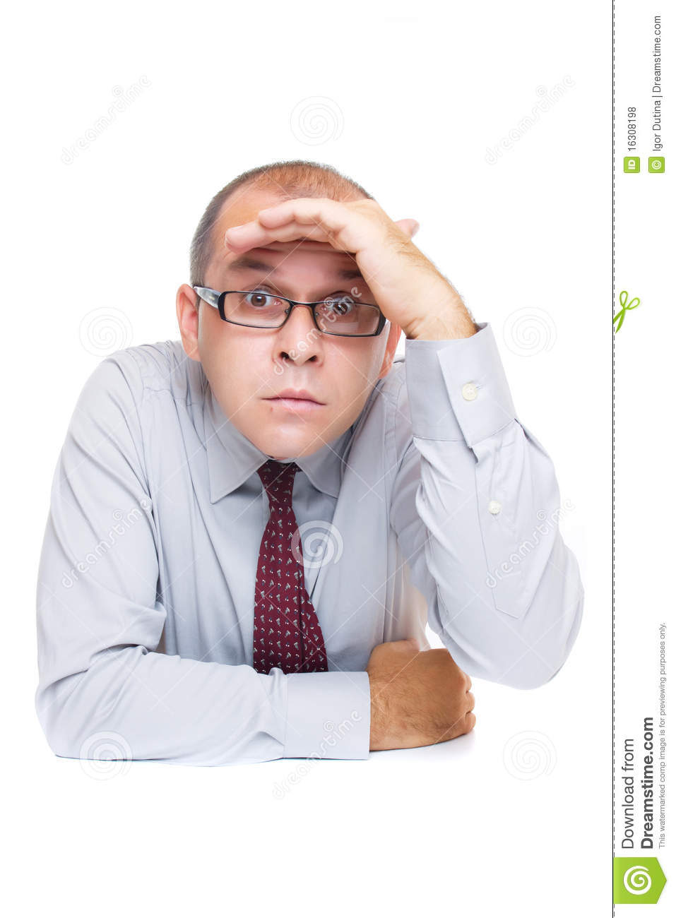 Businessman Looking For Something Royalty Free Stock