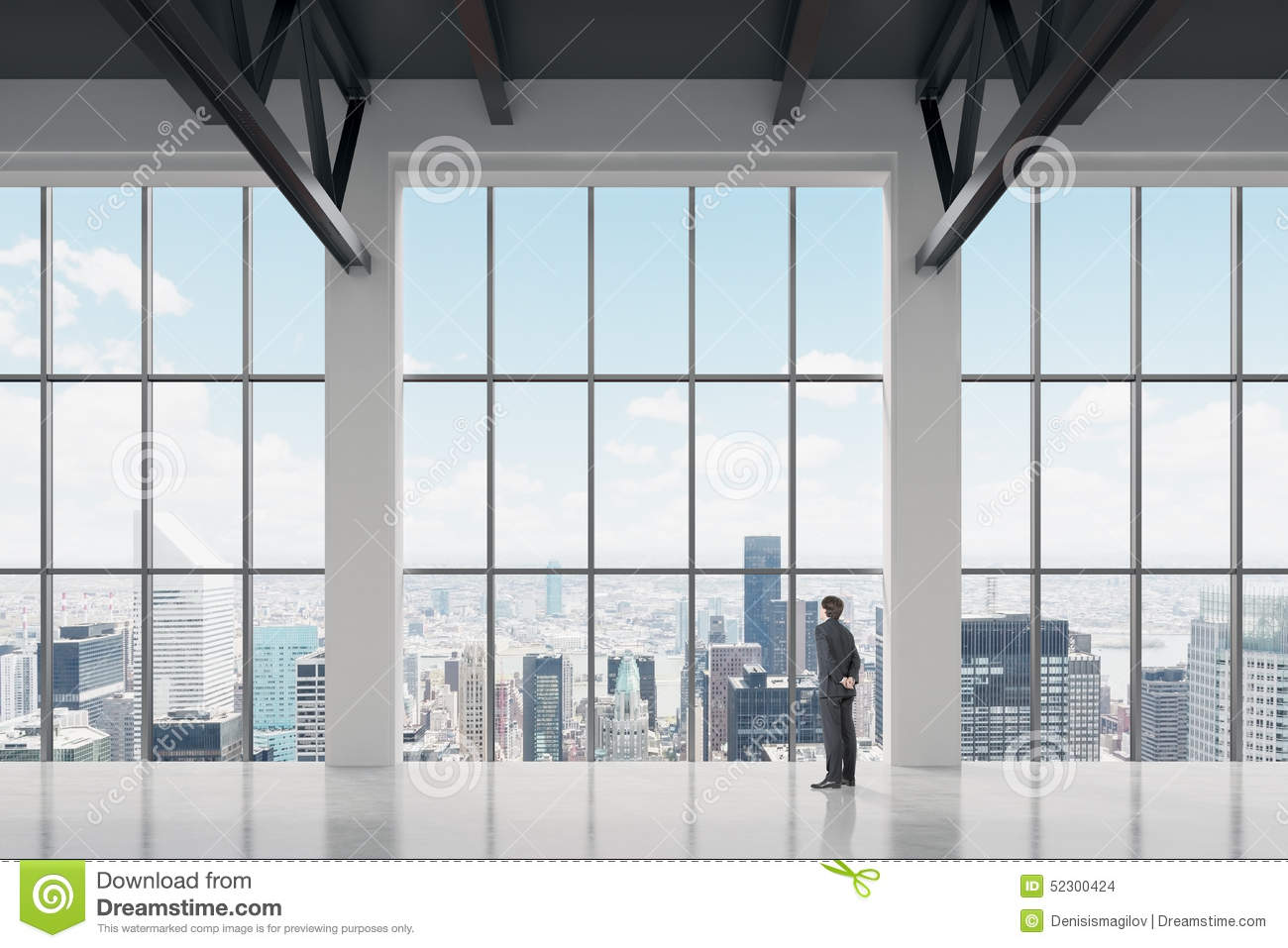 Lovely Download Businessman Looking Through The Window In Office Stock Photo    Image Of Glass, Businessman