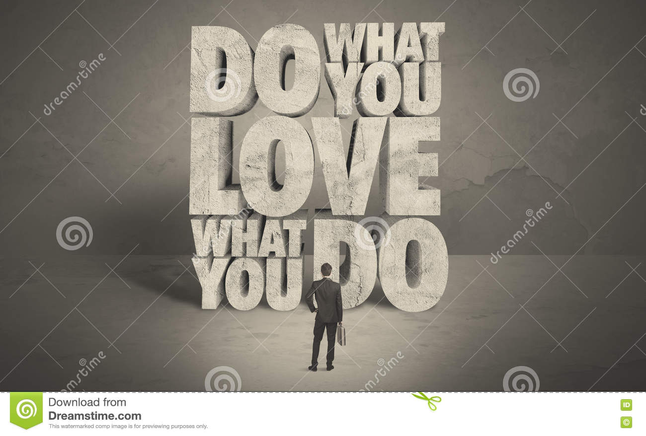 Businessman With Love What You Do Advice Royalty-Free ...
