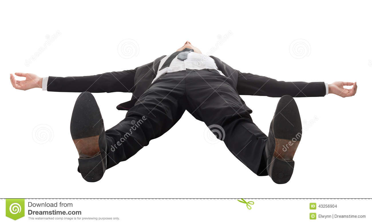 Businessman Lying On Ground Stock Photo - Image: 43256904