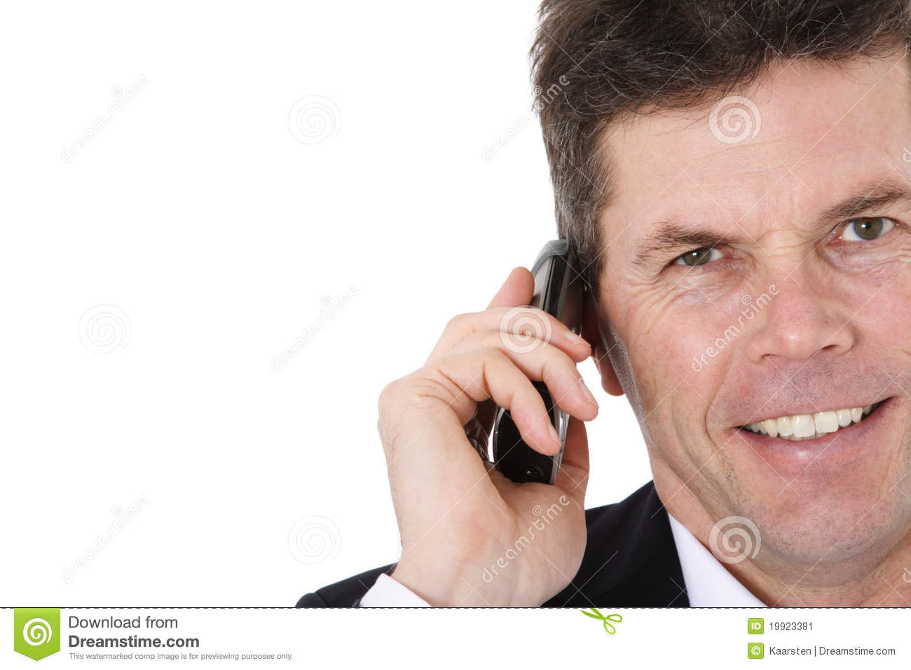 Businessman Making Phone Call Stock Image - Image of ...
