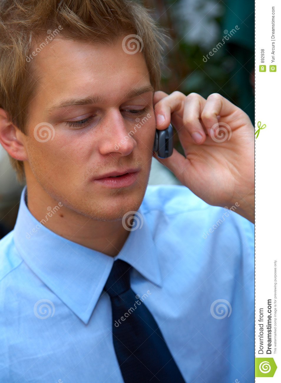 Businessman Making A Phone Call. Stock Photo - Image of ...