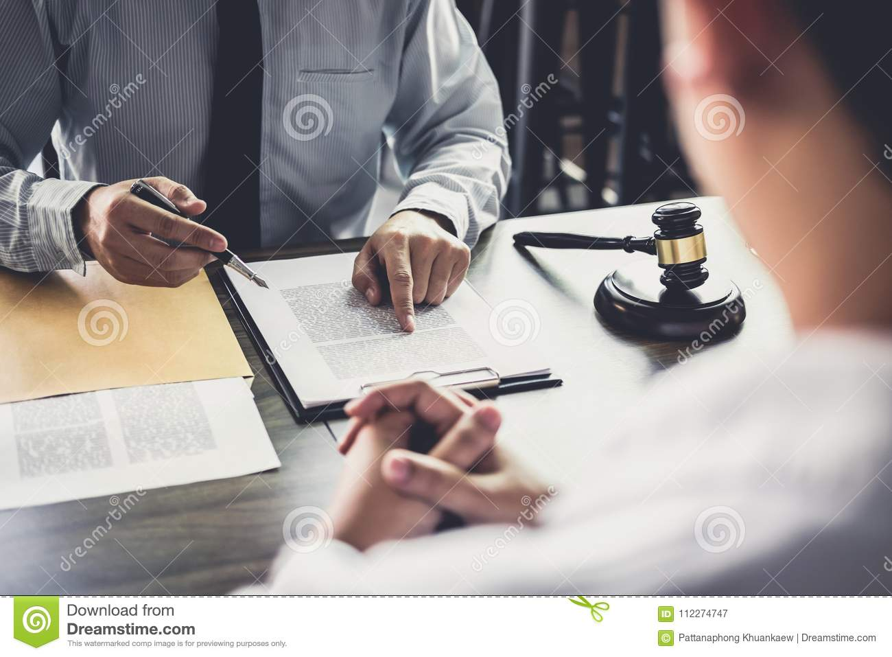 Businessman and Male lawyer or judge consult having team meeting