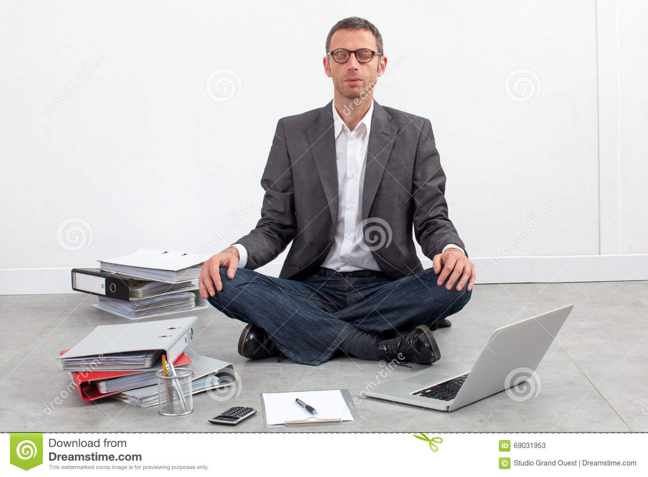 meditation businessman office. businessman meditating at office having break work stock photos meditation dreamstimecom