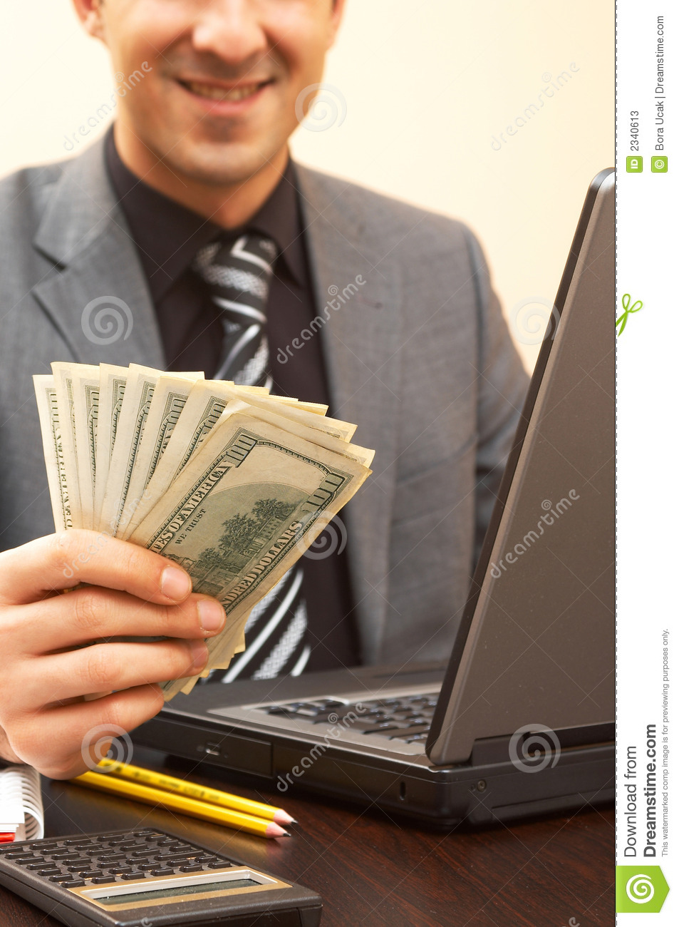 Businessman With Money Stock Photos - Image: 2340613