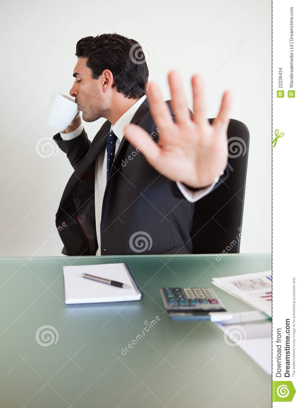 Bad Credit Credit Cards >> A Businessman Not Willing To Be Disturbed Stock Images ...