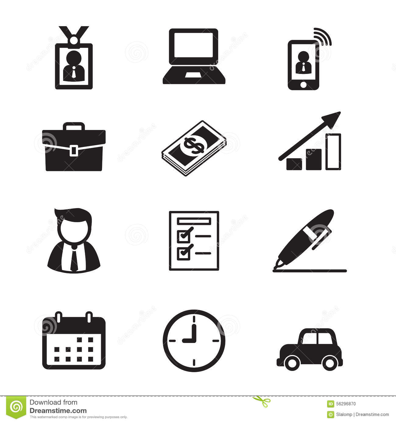 Businessman And Office Tools Stock Illustration Image 56296870